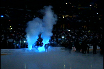 lightning player introduced with cryo co2  jets Magic FX