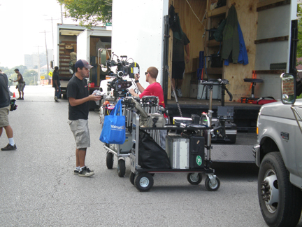 hollywood production closes down street
