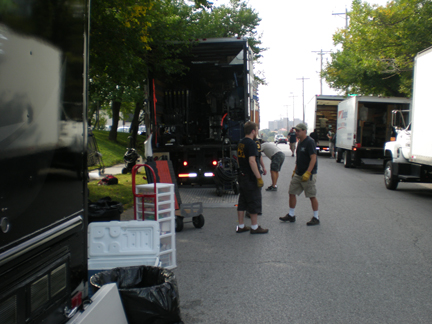 movie crew on location