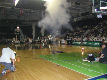 CO2 jets for sports intro NBA