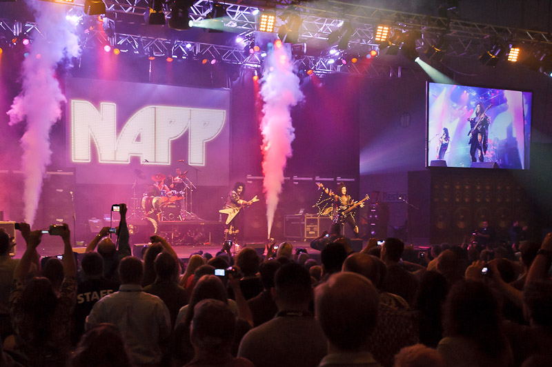 cryo fx co2 jets at a concert event