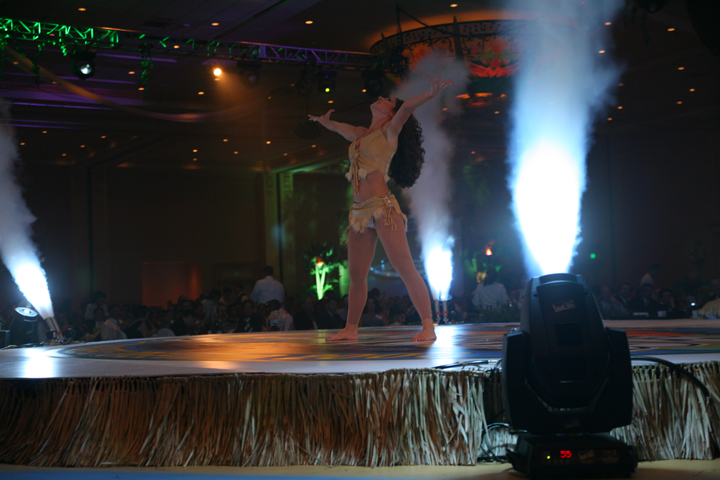 cryofx co2  jets  at a corporate event
