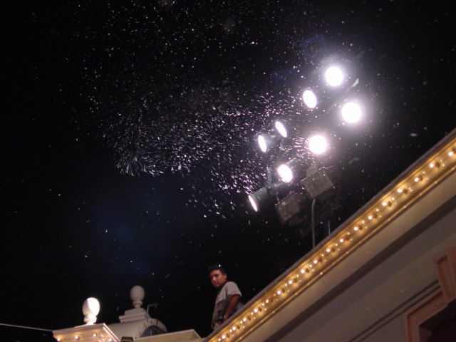 snow machines installed  at Main Street USA
