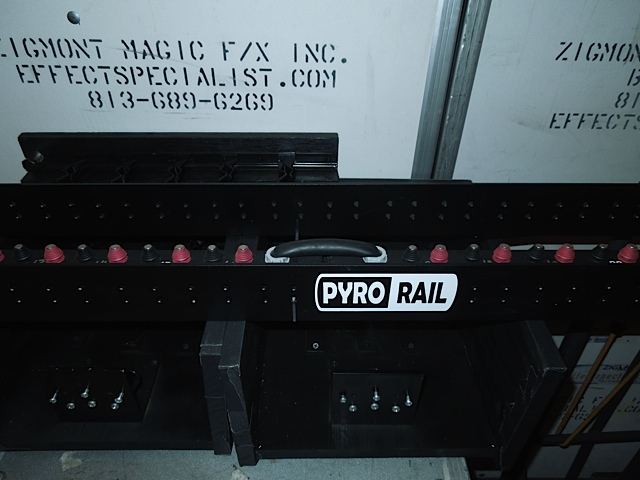 pyro rail is a pyrotechnic device holder