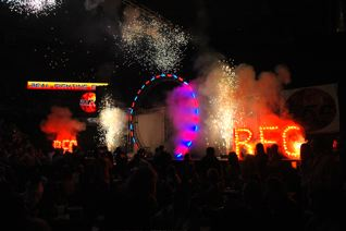 indoor Pyrotechnics sparks at RFC Sundome