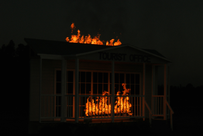 propane flames system