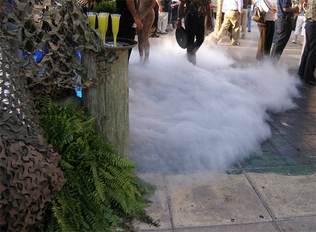 crawling fog at party
