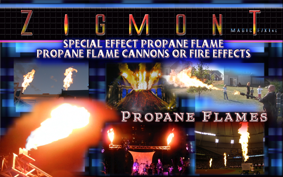 propane flame special effects Firefly and Dragonfly propane systems