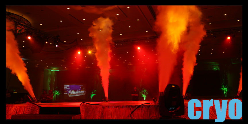 cryo effects and c02 jets rentals