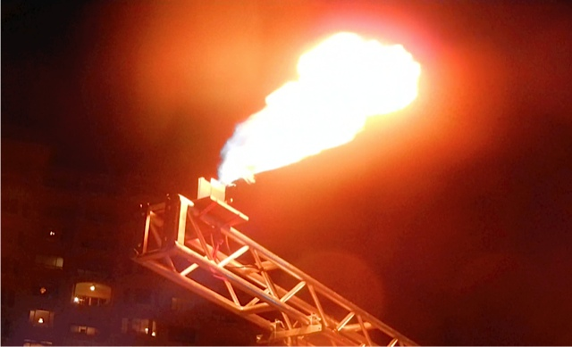 10 ft firefly FX propane flames at concert