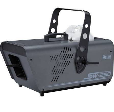 onsumer Antari Lighting SW-250X 600W Snow Machine without W-1 Wireless Control, too big of flakes for indoor, not enough snow on a 50% setting and not designed for outdoor.