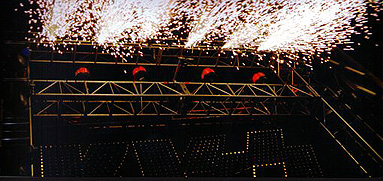 indoor pyrotechnics kiss sign