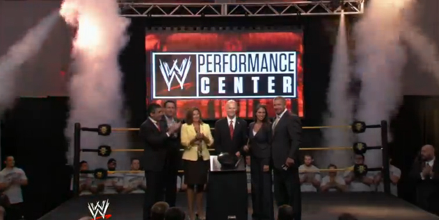 wwe cryo for grand opening perforance center